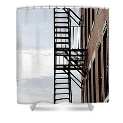 Fire Escape In Boston Shower Curtain by Elena Elisseeva
