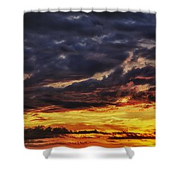 Fire Lake Shower Curtain by Skip Nall