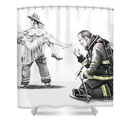 Fire Rescue Shower Curtain by Murphy Elliott