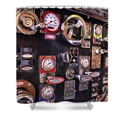 Fireman - Discharge Panel Shower Curtain by Paul Ward
