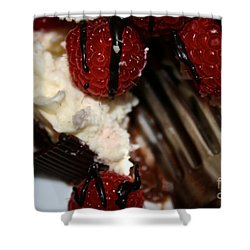 First Taste Shower Curtain by Susan Herber