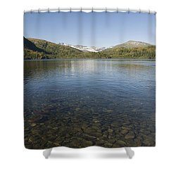 Fishing At Shrode Lake Shower Curtain by Gloria & Richard Maschmeyer