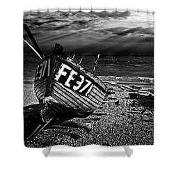 fishing boat FE371 Shower Curtain by Meirion Matthias