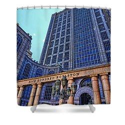 Five Hundred Boylston - Boston Architecture Shower Curtain by Julia Springer