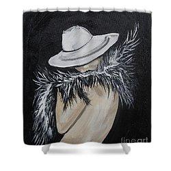 Flirt Shower Curtain by Leslie Allen