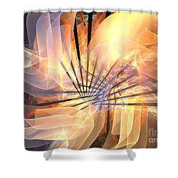 Floral Supernova Shower Curtain by Kim Sy Ok