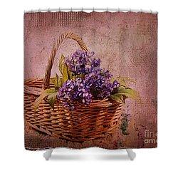Flower Basket Shower Curtain by Judi Bagwell