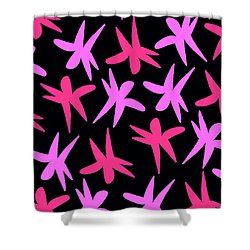 Flower Stars  Shower Curtain by Louisa Knight
