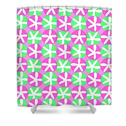 Flowers And Spots  Shower Curtain by Louisa Knight