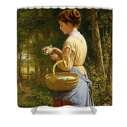 Flowers From The Woods Shower Curtain by JO Bank