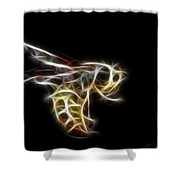 Flying Wasp Shower Curtain by Paul Ward