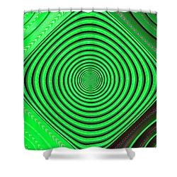 Focus On Green Shower Curtain by Carolyn Marshall