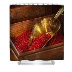 Food - Candy - Hot Cinnamon Candies  Shower Curtain by Mike Savad