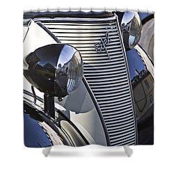 Ford Eifel Cabrio 1939 Classic Car Shower Curtain by Heiko Koehrer-Wagner