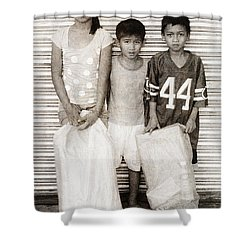 Forgotten Faces 9 Shower Curtain by Skip Nall