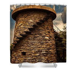 Fort Adams State Park Shower Curtain by Lourry Legarde