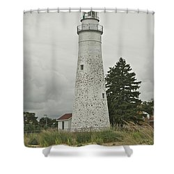 Fort Gratiot Lighthouse Shower Curtain by Michael Peychich