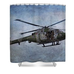 Fours Up Shower Curtain by Dave Godden