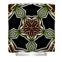 Fractal Kaleidoscope Shower Curtain by Cheryl Young