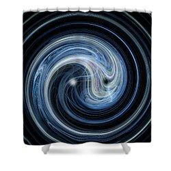 Fractal Yin And Yang Shower Curtain by Nicholas Burningham