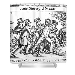 Freedman Enslaved, 1839 Shower Curtain by Granger