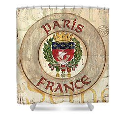 French Coat Of Arms Shower Curtain by Debbie DeWitt