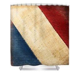 French Flag Shower Curtain by Setsiri Silapasuwanchai