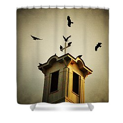 Frenchtown Steeple Shower Curtain by Bill Cannon