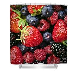 Fresh Berries Shower Curtain by Elena Elisseeva