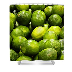 Fresh Limes Shower Curtain by Methune Hively