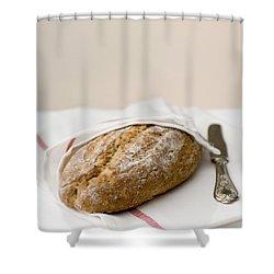 Freshly Baked Whole Grain Bread Shower Curtain by Shahar Tamir