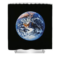 Full Earth From Space Shower Curtain by Stocktrek Images