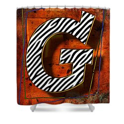 G Shower Curtain by Mauro Celotti