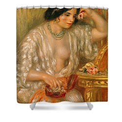 Gabrielle With Jewellery Shower Curtain by Pierre Auguste Renoir