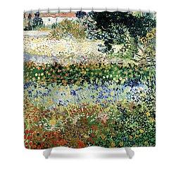 Garden In Bloom Shower Curtain by Vincent Van Gogh