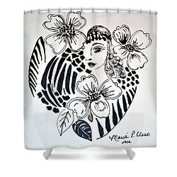 Garden Of Eve Shower Curtain by Maria Urso