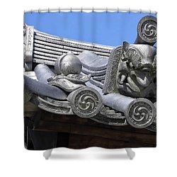 Gargoyles Of Horyu-ji Temple - Nara Japan Shower Curtain by Daniel Hagerman