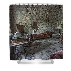 Garnet Ghost Town Hotel Parlor - Montana Shower Curtain by Daniel Hagerman