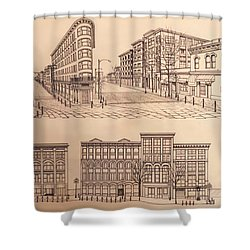 Gastown Vancouver Canada Prints Shower Curtain by Kim Hunter