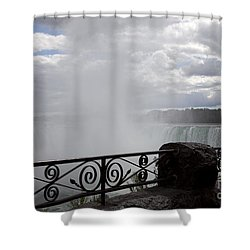 Gate To Fall Shower Curtain by Amanda Barcon