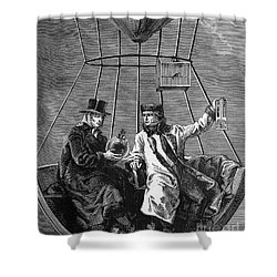 Gay-lussac And Jean-baptiste Biot, 1804 Shower Curtain by Science Source