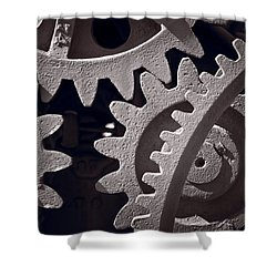 Gears Number 1 Shower Curtain by Steve Gadomski
