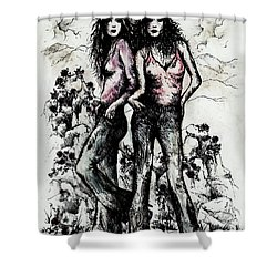 Genes And Roses Shower Curtain by Rachel Christine Nowicki