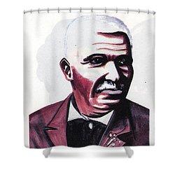 Georges Washington Carver Shower Curtain by Emmanuel Baliyanga