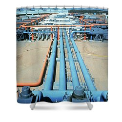Geothermal Power Plant Shower Curtain by Science Source