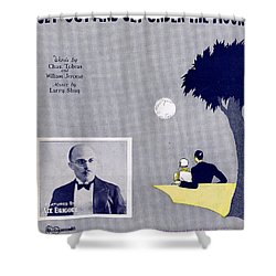 Get Out And Get Under The Moon Shower Curtain by Mel Thompson
