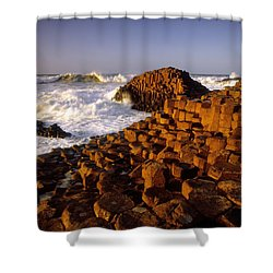 Giants Causeway, County Antrim, Ireland Shower Curtain by The Irish Image Collection