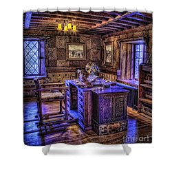Gillette Castle Office Hdr Shower Curtain by Susan Candelario