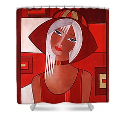Gina Shower Curtain by Camelia Apostol