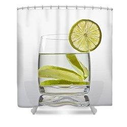 Glass With Lemonade Shower Curtain by Joana Kruse